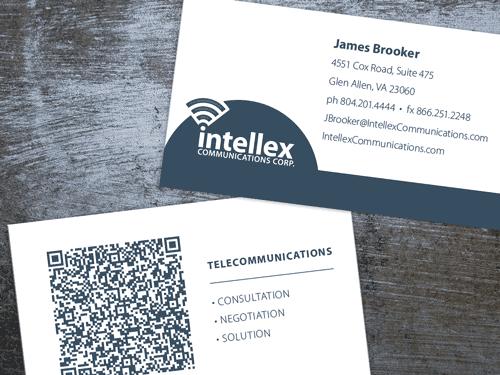 intellex business card design