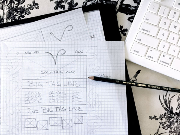 sketch of website