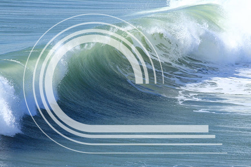 breaking waves logo design