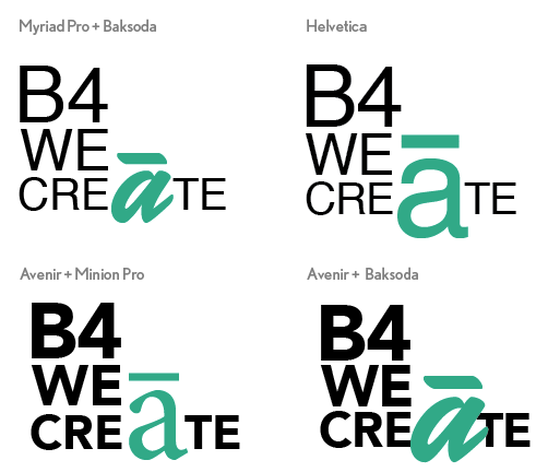 Font choice for logo experiment
