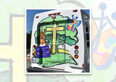New Kent Christian Academy Bus Graphics