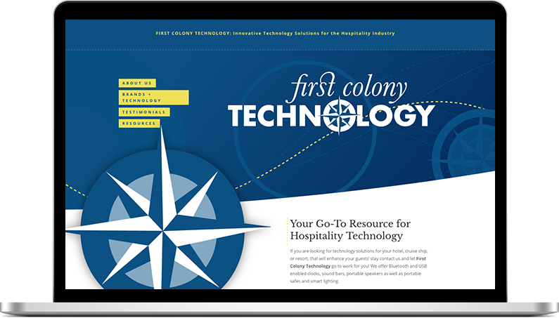 first colony technology website design