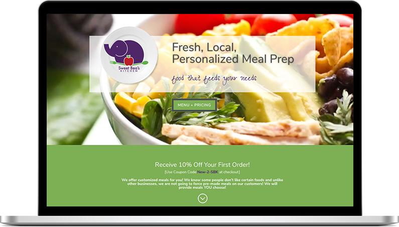 sweet beas kitchen website design